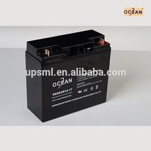 MSDS 12v 17ah 20hr battery for soalr system