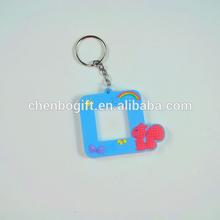 hot hot sale souvenir photo frame 2d custom soft pvc keychain