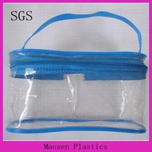 pvc shallow makeup case bag with zipper