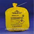 Pe material plástico sacos de residuos sanitarios de contenedores