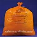 de plástico del pe sacos de material médico contenedores de residuos