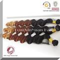 1# tonalità di colore tre toni di colore capelli biondo brasiliano del tessuto e marrone
