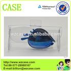 Transparent PVC soft folding sunglasses case / box