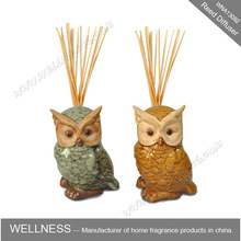 Difusor de la caña bird en forma de búho de cerámica para la decoración