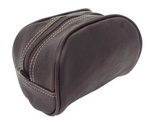 custom fashion men PU leather toiletry bag