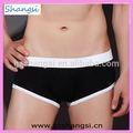 Noir avec blanc bord de la bande nylon spandex culotte string
