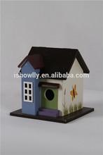 Eco-friendly Cute decorative plywood birdhouse pine wood birdcages