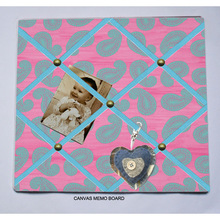 NEW pink and blue Vintage style padded pin board message memo