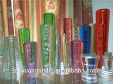 PMMA acrylic bubble rod/Plexiglass bubble acrylic rod/bubble acrylic rod for indoor decoration