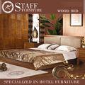 2014 grande venda quente exóticas confortável cama de madeira maciça