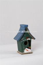 Eco-friendly decorative MDF pet bird red house,bird shed