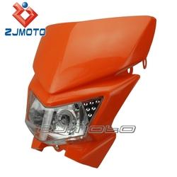 Orange high quality Motorrad-Kunststoffscheinwerfer off road motorcycle plastic headlight for KLX450 250 140 110
