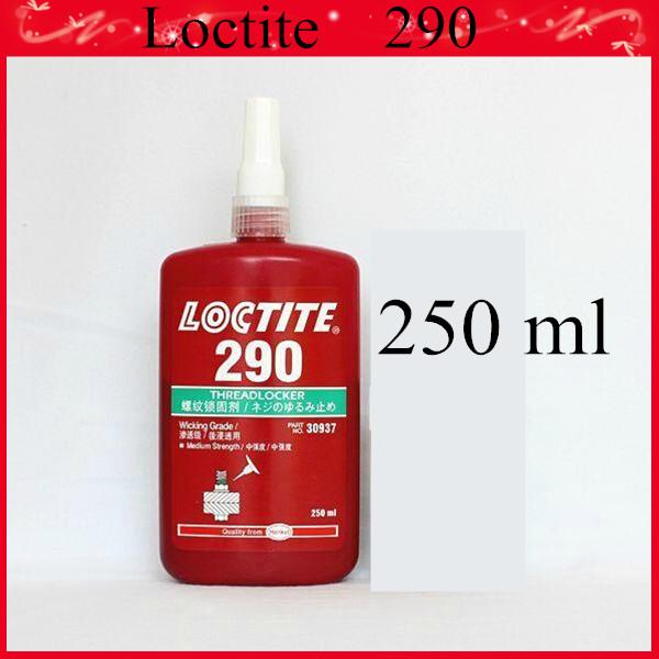 2014 Loctite 290 thread screw locker adhesive glue for Internal bearing curing equipment sealing 250ml