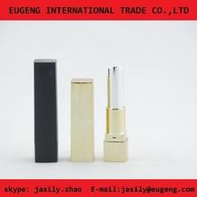 Shiny gold square lipstick case /make your own lipstick