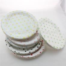 "Wholesale Chevron Striped Polka dot Party Paper Plates, 9"" Disposable Paper Plates"