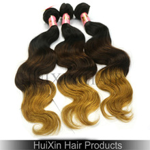 New Arrival Beautiful 3 Tone Color Body Wave Brazilian Ombre Hair Weaves