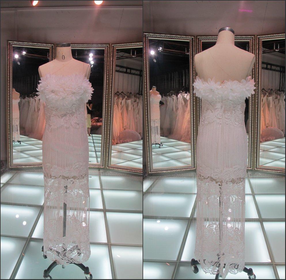 احدث ثوب الزفاف أنماط 2014 في أستراليا/ عينة حقيقية زهرة حمالة فساتين الزفاف الدانتيل