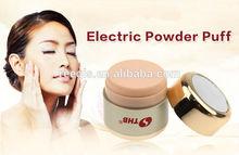 2014 Hot Selling electric facial makeup power puff Cosmetic puff Vibrating powder puff