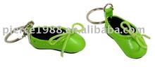 Promotional hand made PVC shoe shape keychain dance shoe keychain