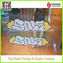 die cut animal shape transparent window wall decal