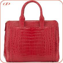 Branded style authentic croco leather handbag