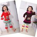 Kaiya toptan sevimli çocuk giyim fırfır kız bebek giysileri