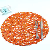 orange decorative kitchen mats