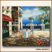 100% handmade garden scenery oil painting