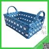 Handmade plastic laundry basket with handle/plastic basket making/plastic strap woven basket