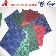 quality polyester non woven velour jacquard carpet