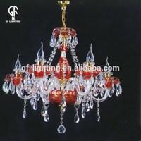 Horn shape seed design crystal chandelier ball