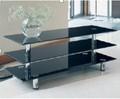 Plasma tv tabla tabla tabla de cristal púlpito / cristal de fijación del soporte