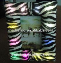The zebra pattern hair light up photo frame