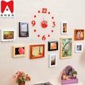 Óleo da flor da lona pintura tailândia buda 12 P definidos relógio de parede