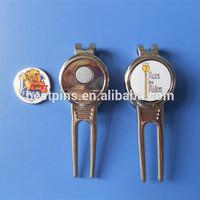 metal golf divot repair tools, wholesale golf club divot tool