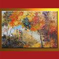 vente en gros la main huile sur toile peinte arbre décoratif