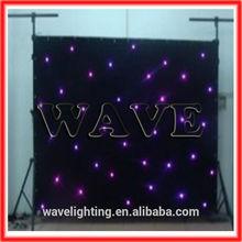 WLK-1UV Black fireproof Velvet cloth UV leds star stage backdrop curtain led effect nightclub