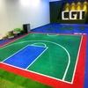 High rebounce portable basketball court sports flooring tile