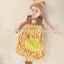 Born To Be Wild Giraffe Snuggle Sack and Hat