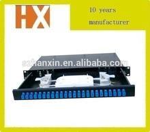 "Cheap price for 1U 19""Rack mount odf fiber termination box"