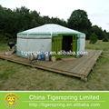 luxo de aço ou madeira armação de lona mongol ger tenda