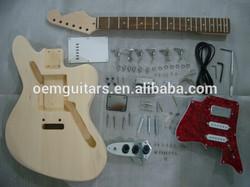 Jaguar guitar kits DIY guitar basswood body with white pickguard