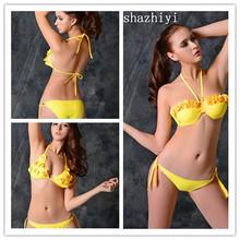 2015 young girl sexy bikini swimwear