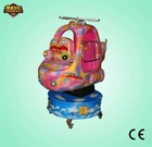 Hot sale ! Coin Operated Prodigy Helicopter Kids Amusement Game Rotating and Lifting Machine