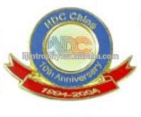 2014wholesale top quality custom soft enamel lapel pin/animal head badge