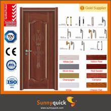 Mdf Material de la puerta y acabado de superficies simple puerta de madera maciza