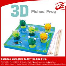 Holz frosch, holz pädagogisches spielzeug, großhandel spielzeug aus china