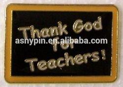 Thank God For Teacher Blackboard Shaped Hat Lapel pin