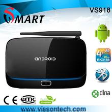external antenna wireless internet tv box xbmc pre-installed android tv box 2gb ram quad core
