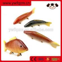 26,31 cm decorative hand carved wood fish